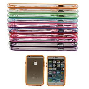 olcso iPhone tokok-Case Kompatibilitás Apple iPhone 6 Plus / iPhone 6 Ütésálló Védőkeret Egyszínű Kemény PC mert iPhone 6s Plus / iPhone 6s / iPhone 6 Plus