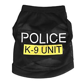 tanie Artykuły Dla Zwierząt-Kot Psy T-shirt Ubrania dla psów Policja / wojsko Czarny Niebieski Różowy Terylen Kostium Na Wiosna i jesień Lato Męskie Damskie Moda