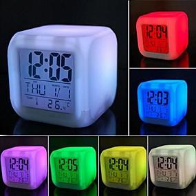 ieftine LED-uri & Iluminat-1 buc LED-uri de lumină de noapte Ecran Baterie Rezistent la apă