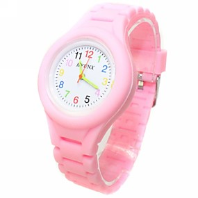 cheap Kids' Watches-Casual Watch Fashion Watch Quartz Silicone Black / White / Blue Casual Watch Analog Ladies Candy color - Green Blue Pink One Year Battery Life / ETA 377A