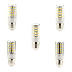 olcso LED kukorica izzók-5pcs 5 W LED kukorica izzók 450 lm E14 G9 E26 / E27 T 69 LED gyöngyök SMD 5730 Meleg fehér Hideg fehér 220-240 V / 5 db.