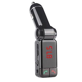 halpa Päivittäistarjoukset-bluetooth dual usb autolaturi aux-in FM-lähetin hansfree mikrofoni iPhone 6 6 plus 5s 4s ja muut