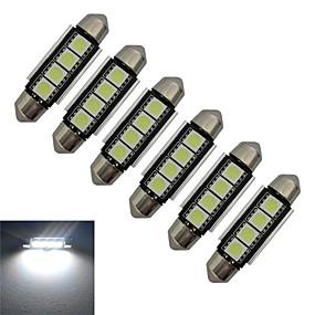 Недорогие Прочие светодиодные лампы-jiawen 6pcs 1.5w 80-90 lm свет света чтения света света света 4 водить smd 5050 холодный белый dc 12v