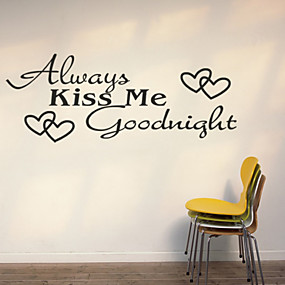 cheap Decoration Stickers-Fashion Words & Quotes Wall Stickers Plane Wall Stickers Decorative Wall Stickers, PVC Home Decoration Wall Decal Wall