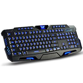 ieftine Mouse & Tastaturi-LITBest M200 USB cu fir tastatura de gaming tastatură multimedia Luminos iluminare din spate cu mai multe culori 114 pcs Chei