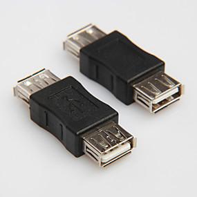 Χαμηλού Κόστους Αξεσουάρ Η/Υ & Tablet-USB 2.0 τύπου Α στο θηλυκό καλώδιο καλώδιο προσαρμογέα ζεύκτη υποδοχή μετατροπέα changer αραίωσης σύνδεσμος