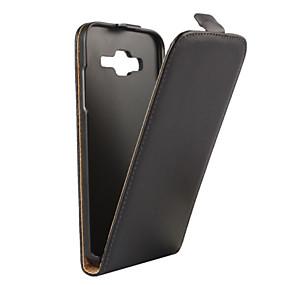 voordelige Galaxy J1 Hoesjes / covers-hoesje Voor Samsung Galaxy J5 (2016) / J5 / J3 (2016) Flip Volledig hoesje Effen PU-nahka