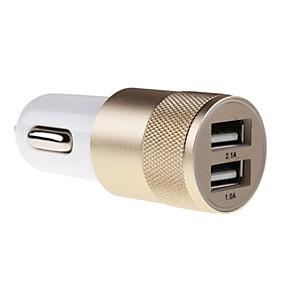 זול Xiaomi-מטען לרכב מטען USB מרובה חיבורים 2חיבוריUSB 2.1 A / 1 A DC 12V-24V ל