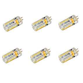 abordables Luces LED de Doble Pin-YWXLIGHT® 6pcs 6.5 W Bombillas LED de Mazorca 650 lm G4 T 72 Cuentas LED SMD 3014 Blanco Cálido Blanco Fresco 12 V 24 V / 6 piezas / Cañas