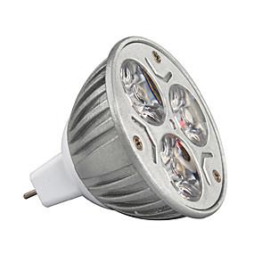 tanie Oświetlenie LED-3 W 210-245 lm GU5.3(MR16) Żarówki punktowe LED MR16 3 Koraliki LED LED wysokiej mocy Dekoracyjna Ciepła biel / Zimna biel / RGB 12 V / 1 szt. / ROHS / Certyfikat CE / CCC
