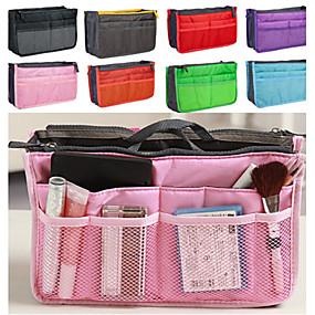 ราคาถูก อุปกรณ์เก็บของ-แฟชั่นของผู้หญิงแบบสบาย ๆ ตาข่ายแต่งหน้าเครื่องสำอางกระเป๋าจัดเก็บทิปผู้จัดงาน 8 สี