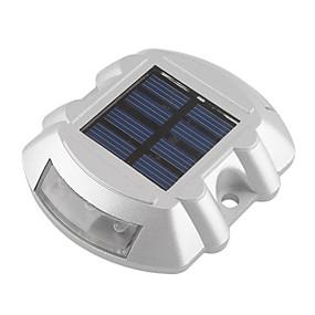 billige Pathway Lights-1pc aluminium solenergi 6led udendørs vej indkørslen dock sti trin lys