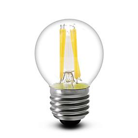 baratos Lâmpadas de LED Filamento-1pç 4 W Lâmpadas de Filamento de LED 380 lm E14 E12 E26 / E27 G45 4 Contas LED COB Regulável Branco Quente 220-240 V 110-130 V / 1 pç / RoHs / LVD