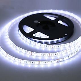 ieftine Benzi Lumină LED-ZDM® 5m Fâșii De Becuri LEd Flexibile 300 LED-uri SMD 2835 Alb Cald / Alb Rece / RGB Rezistent la apă / Ce poate fi Tăiat / Auto- Adeziv 12 V 1 buc / IP65