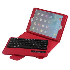 billige iPad-tastaturer-høj kvalitet læder flip folde tilfælde bluetooth tastatur til iPad Mini 4 7,9 tommer (assorterede farver)