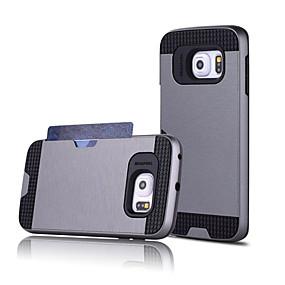 halpa Galaxy S6 Edge Plus kotelot / kuoret-Etui Käyttötarkoitus Samsung Galaxy Samsung Galaxy kotelo Korttikotelo Takakuori Yhtenäinen PC varten S7 edge / S7 / S6 edge plus