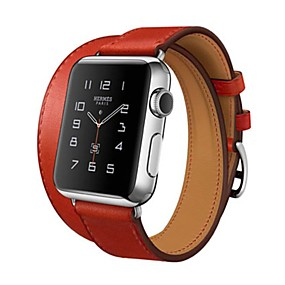 abordables Accessoires Apple-Bracelet de Montre  pour Apple Watch Series 4/3/2/1 Apple Boucle Classique Vrai Cuir Sangle de Poignet