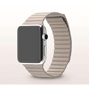 billige Mobiltelefonstilbehør-Urrem for Apple Watch Series 4/3/2/1 Apple Milanesisk rem Ægte læder Håndledsrem