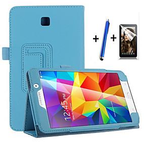 voordelige Galaxy Tab 4 7.0 Hoesjes / covers-hoesje Voor Samsung Galaxy Tab 4 7.0 met standaard / Automatisch aan / uit / Flip Volledig hoesje Effen Hard PU-nahka