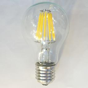 Χαμηλού Κόστους Λαμπτήρες LED με νήμα πυράκτωσης-1pc 12 W LED Λάμπες Πυράκτωσης 1050 lm E26 / E27 A60(A19) 12 LED χάντρες COB Αδιάβροχη Διακοσμητικό Θερμό Λευκό Φυσικό Λευκό 220-240 V / 1 τμχ / RoHs
