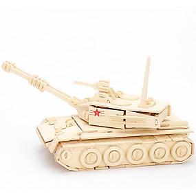 olcso Játékok & hobbi-3D építőjátékok Fából készült építőjátékok Wood Model Tank Fa Fiú Lány Játékok Ajándék