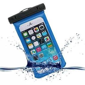 olcso iPhone tokok-Case Kompatibilitás iPhone 6s Plus / iPhone 6 Plus / iPhone 6s Vízálló / Betekintő ablakkal Erszény Egyszínű Puha PC mert iPhone SE / 5s