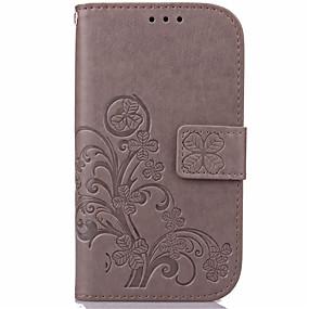 voordelige Galaxy J5 Hoesjes / covers-hoesje Voor Samsung Galaxy J7 (2016) / J7 / J5 (2016) Portemonnee / Kaarthouder / met standaard Volledig hoesje Bloem PU-nahka