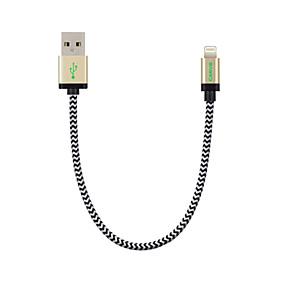 billige CARVE-Belysning Kabler / Kabel <1m / 3ft Flettet Nylon USB-kabeladapter Til iPad / Apple / iPhone