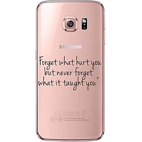 voordelige Galaxy S6 Edge Plus Hoesjes / covers-hoesje Voor Samsung Galaxy S7 edge / S7 / S6 edge plus Transparant / Patroon Achterkant Woord / tekst Zacht TPU