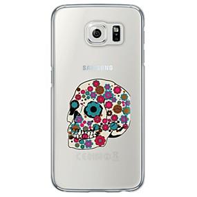 voordelige Galaxy S6 Edge Plus Hoesjes / covers-hoesje Voor Samsung Galaxy S7 edge / S7 / S6 edge plus Ultradun / Doorzichtig Achterkant Doodskoppen Zacht TPU