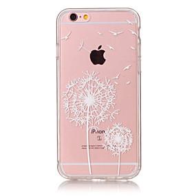 halpa iPhone 5S / SE kotelot-Etui Käyttötarkoitus Apple iPhone 6 Plus / iPhone 6 Ultraohut / Läpinäkyvä / Kuvio Takakuori Voikukka Pehmeä TPU varten iPhone 6s Plus / iPhone 6s / iPhone 6 Plus