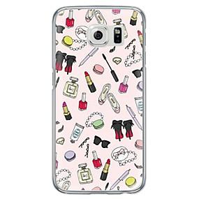 voordelige Galaxy S7 Hoesjes / covers-hoesje Voor Samsung Galaxy S7 edge / S7 / S6 edge plus Ultradun / Doorzichtig Achterkant Andere Zacht TPU