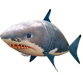 abordables Juguetes Novedosos-Tiburón de radiocontrol Animal por control remoto Tiburón volador Pez payaso Inflable Movimiento realista Nadador de aire Nailon 1 pcs Unisex Juguet Regalo / CE