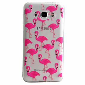 voordelige Galaxy J5 Hoesjes / covers-hoesje Voor Samsung Galaxy J5 (2016) / J5 / J3 (2016) Patroon Achterkant dier Zacht TPU