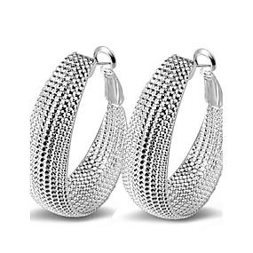 cheap Sterling Silver-Women's Hoop Earrings Sterling Silver Earrings Statement Ladies
