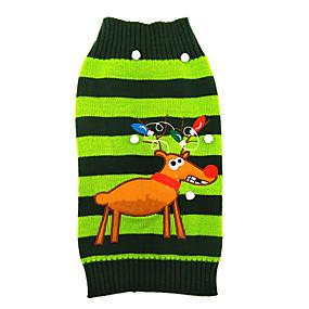 7566dd6c5eb3 Χαμηλού Κόστους Χριστουγεννιάτικα κοστούμια για κατοικ-Γάτα Σκύλος Πουλόβερ  Ρούχα για σκύλους Τάρανδος Πράσινο Ακρυλικές