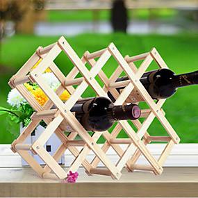 billige Husholdningernes store kampagne-kreative køkken træ kunst vin rack grogshop restaurant dekoration
