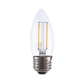 povoljno LED žarulje s nitima-GMY® 1pc 2 W LED filament žarulje 200 lm E26 / E27 2 LED zrnca COB Zatamnjen Toplo bijelo / 1 kom.