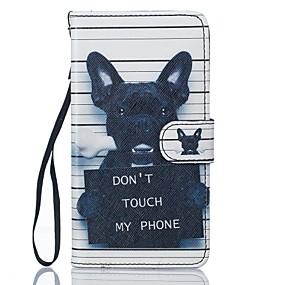 voordelige Galaxy J5 Hoesjes / covers-hoesje Voor Samsung Galaxy J5 (2016) / J5 Portemonnee / Kaarthouder / met standaard Volledig hoesje Hond Hard PU-nahka