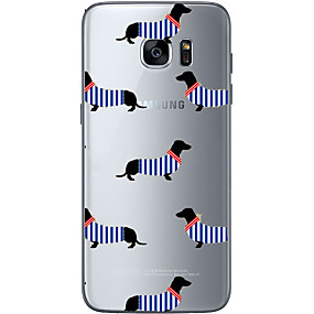 voordelige Galaxy S6 Edge Plus Hoesjes / covers-hoesje Voor Samsung Galaxy S7 edge / S7 / S6 edge plus Patroon Achterkant Hond Zacht TPU