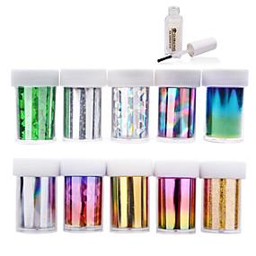 levne Make-up & Péče o nehty-10ks nail art přenos fólie nálepka papír s 1ks na nehty fólie lepidla (# 11- # 20)