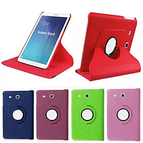 voordelige Galaxy Tab S 10.5 Hoesjes / covers-hoesje Voor Tab S 10.5 / Tab S 8.4 / Samsung Galaxy Tab 4 10.1 / Tab 4 8.0 / Tab 3 7.0 360° rotatie / met standaard / Flip Volledig hoesje Effen PU-nahka