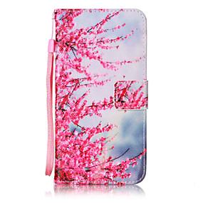 voordelige Galaxy Core Prime Hoesjes / covers-hoesje Voor Samsung Galaxy On 5 / J7 (2016) / J5 (2016) Portemonnee / Kaarthouder / Flip Volledig hoesje Bloem Hard PU-nahka