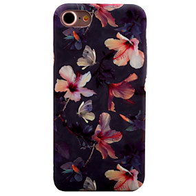 olcso iPhone tokok-CaseMe Case Kompatibilitás Apple iPhone 8 / iPhone 8 Plus / iPhone 7 Minta Fekete tok Virág Kemény PC mert iPhone 8 Plus / iPhone 8 / iPhone 7 Plus