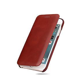 olcso iPhone tokok-Case Kompatibilitás Apple iPhone X / iPhone 8 / iPhone 8 Plus Ultra-vékeny Héjtok Egyszínű Kemény Valódi bőr mert iPhone X / iPhone 8 Plus / iPhone 8