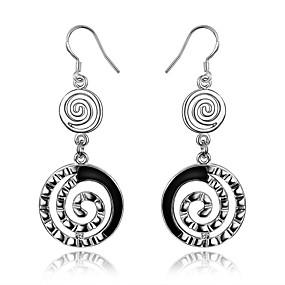 billige Sterling Sølv-Dame geometrisk Dråbeøreringe Store øreringe Sølv Øreringe Damer Smykker Sølv Til Bryllup Fest Daglig Afslappet