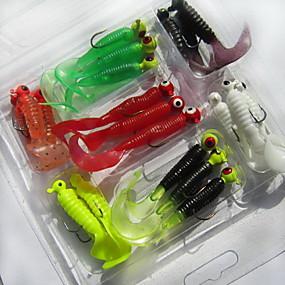 ieftine Momeală Pescuit-21 pcs Δόλωμα Momeală moale Broască mâncare Plastic moale Scufundare Pescuit mare Pescuit de Apă Dulce
