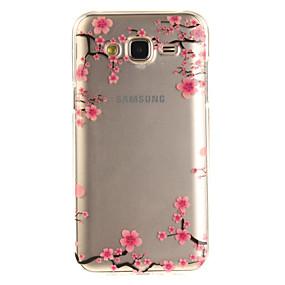 voordelige Galaxy Grand Prime Hoesjes / covers-hoesje Voor Samsung Galaxy J5 (2016) / J5 / J3 (2016) IMD / Transparant / Patroon Achterkant Bloem Zacht TPU