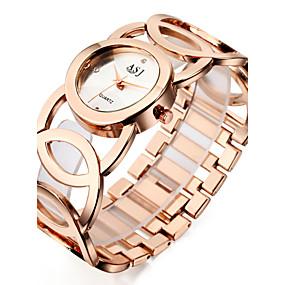 voordelige Merk Horloge-ASJ Dames Luxueuze horloges Polshorloge Gouden Horloge Japans Kwarts Zilver / Goud / Goud Rose 30 m Waterbestendig Stootvast Cool Analoog Dames Amulet Informeel Modieus Elegant - Zilver Goud Goud Rose