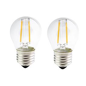 povoljno LED žarulje s nitima-ONDENN 2pcs 2 W LED filament žarulje 200 lm E26 / E27 G45 2 LED zrnca COB Zatamnjen Toplo bijelo 220-240 V 110-130 V / 2 kom. / RoHs